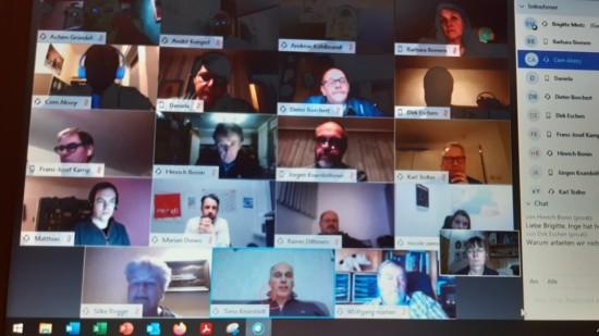 Videokonferenz mit der KVG